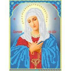 Ткань для вышивания бисером Богородица Умиление, 18x25, Каролинка