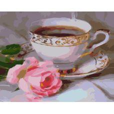 Живопись по номерам Чашка ароматного чая, 40x50, Paintboy, GX33409