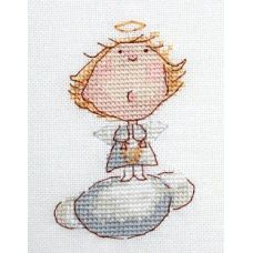 Набор для вышивания крестом Ангелочек, 6x9, НеоКрафт