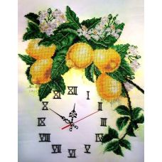 Набор для вышивания Часы с лимонами, 32x40, Fedi