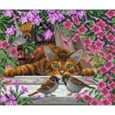 Набор для вышивания Искушение кота Василия, 31x26, Русская искусница