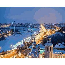 Живопись по номерам Зимний город, 40x50, Paintboy, GX3947