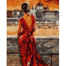 Живопись по номерам Леди в красном, 40x50, Paintboy, GX8946