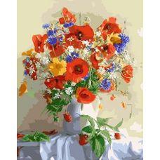 Живопись по номерам Букет цветов, 40x50, Paintboy, GX4435