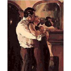 Живопись по номерам Поцелуй у зеркала, 40x50, Paintboy, GX8908