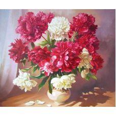 Живопись по номерам Пионы в вазе, 40x50, Paintboy, GX3715