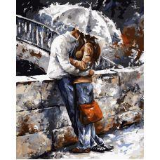 Живопись по номерам Романтичная прогулка под дождем, 40x50, Paintboy, GX7538