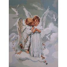 Живопись по номерам Поцелуй ангела, 40x50, Paintboy, GX6498