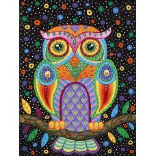 Живопись по номерам Разноцветная сова, 40x50, Paintboy, GX3573