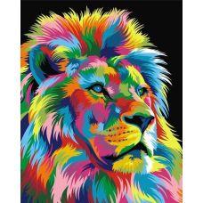 Живопись по номерам Радужный король лев, 40x50, Paintboy, GX9053
