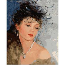 Живопись по номерам Женская красота, 40x50, Paintboy, GX7036