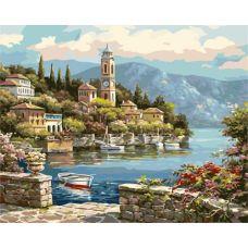 Живопись по номерам Деревенская часовая башня, 40x50, Paintboy, G440