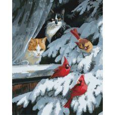 Живопись по номерам Наблюдатели за птицами, 40x50, Paintboy, GX8527
