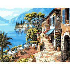 Живопись по номерам Кафе на набережной, 40x50, Paintboy, GX6935