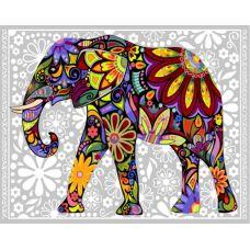 Живопись по номерам Цветной слон, 40x50, Paintboy, GX4030