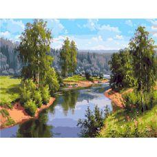 Живопись по номерам Проточная река, 40x50, Paintboy, GX27882