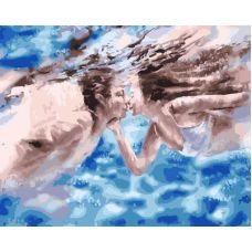 Живопись по номерам Поцелуй под водой, 40x50, Paintboy, GX33410