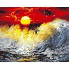 Живопись по номерам Багряный закат, 40x50, Paintboy, GX9990