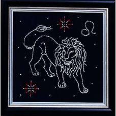 Набор для вышивания бисером Гороскоп Лев, 18x18, Магия канвы