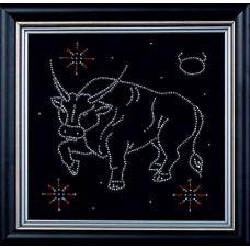 Набор для вышивания бисером Гороскоп Телец, 18x18, Магия канвы