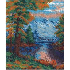 Набор для вышивания бисером Горный пейзаж, 23x29, МП-Студия