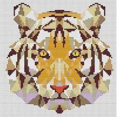 Набор для вышивания крестом Тигр, 16,7x17, Тутти