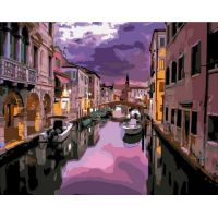 Живопись по номерам Закат над Венецией, 40x50, Paintboy, GX39427