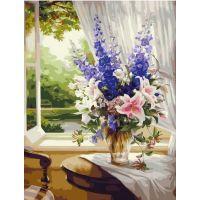 Живопись по номерам Букет у окна, 40x50, Paintboy, GX39635