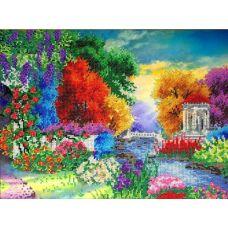 Набор для вышивания бисером на шелке Краски природы, 30x40, Fedi