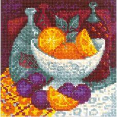 Набор для вышивания крестом Апельсины, 20x20, Риолис, Сотвори сама