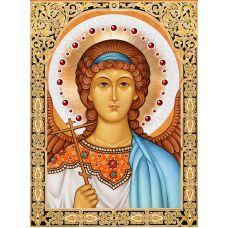 Мозаика стразами Икона Ангел Хранитель, 30x40, полная выкладка, Алмазная живопись