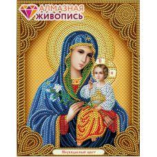 Мозаика стразами Икона Неувядаемый цвет, 22x28, частичная выкладка, Алмазная живопись