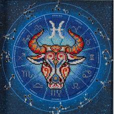 Набор для вышивания бисером Год быка. Рыбы, 20x20, Кроше