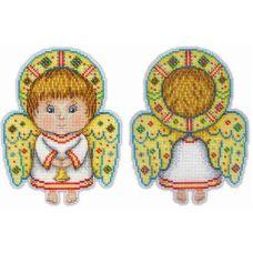 Набор для вышивания крестом на пластиковой основе Ангел-хранитель, 17x13, Жар-Птица (МП-Студия)
