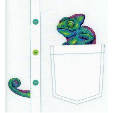 Набор для вышивания крестом по водорастворимой канве Любопытный хамелеон, 7x8, Жар-Птица (МП-Студия)