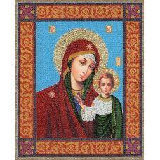 Набор для вышивания бисером Икона Божей Материна Казанская, 35x28, Золотое руно