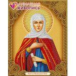 Мозаика стразами Икона Святая Анна, 22x28, частичная выкладка, Алмазная живопись
