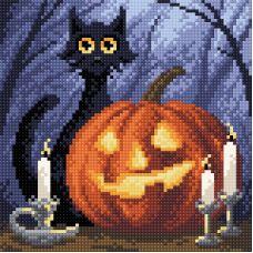 Алмазная мозаика Веселый Хеллоуин, 20x20, полная выкладка, Brilliart (МП-Студия)