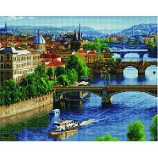 Алмазная мозаика Весенняя Прага, 40x50, полная выкладка, Paintind Diamond