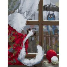 Живопись по номерам Стекают капли по стеклу, 40x50, Paintboy, GX39420