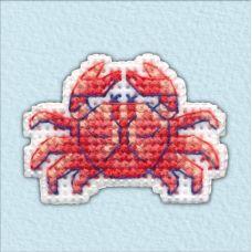 Набор для вышивания крестом Значок-Краб, 4,5x3,3, Овен