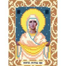 Канва с рисунком Богородица Покрова, 12x16, Божья коровка