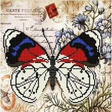 Канва с рисунком Бабочка 4, 25x25, Божья коровка