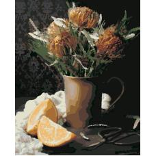 Живопись по номерам Протея и апельсины, 40x50, Hobruk, HS1285