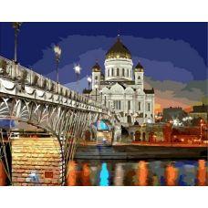 Живопись по номерам Храм Христа Спасителя, 40x50, Paintboy, GX39483