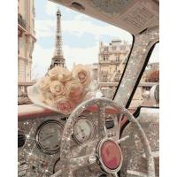 Живопись по номерам Романтика Парижа, 40x50, Hobruk, U8074
