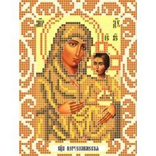 Канва с рисунком Богородица Иерусалимская, 12x16, Божья коровка