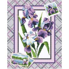 Алмазная мозаика Букет ирисов, 38x48, полная выкладка, Brilliart (МП-Студия)