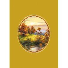 Набор для вышивания с бисером и паспарту Золотая осень, 24x26 (14x16), Матренин посад