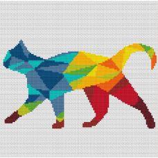 Набор для вышивания крестом Кошка на прогулке, 21x12,3, Тутти